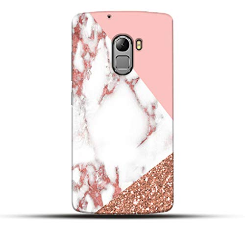 Pikkme Colorful Pink Golden and White Marble Designer Printed Hard Back Case and Cover for Lenovo K4 Note