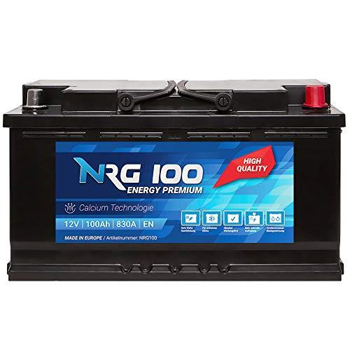 NRG Premium Autobatterie 12V 100Ah ersetzt 88AH 90AH 92AH 95AH Batterie (Kleine Generator-batterie)
