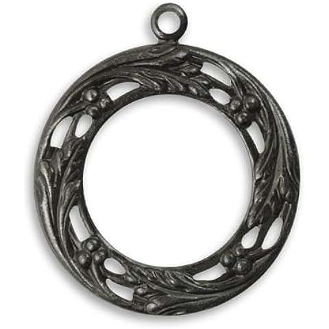 Metal de la guirnalda de la baya Vintaj Arte colgante clarityamdx 27,5 mm (1)