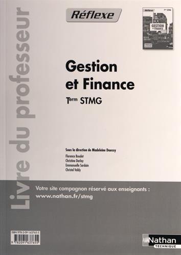 Gestion et finance - Tle STMG par (Broché)