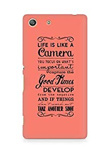 AMEZ life is like a camera Back Cover For Sony Xperia M5