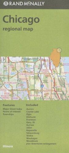 Folded Map Chicago & Vicinity Regional Il (Rand Mcnally)