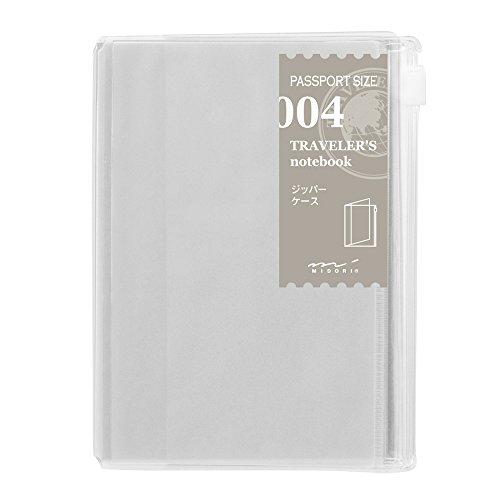 Midori Traveler' s notebook (refill 004) zipper case Passport size