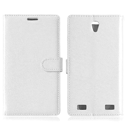 Solid Color PU-Leder-Kasten mit Silikon-Abdeckung Magnetic Kickstand Case für ZTE ZMax2 Z958 ( Color : Rose , Size : ZTE ZMax2 Z958 ) White