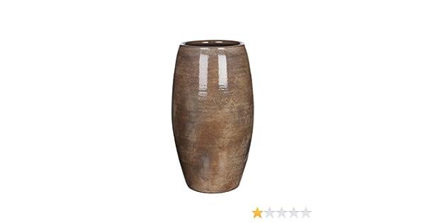 1002886 30/x 30/x 50/cm Lester Marron fonc/é MICA Decorations Vase