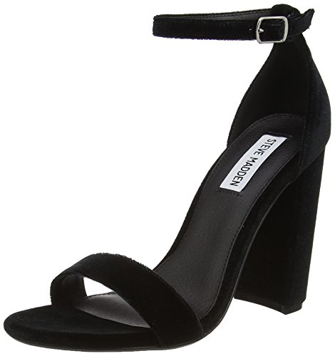 Steve Madden Womens Open Toe Heels (Steve Madden Footwear Damen Carrson Sandal Knöchelriemchen, Schwarz (Black), 39 EU)