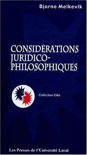 Considérations juridico-philosophiques