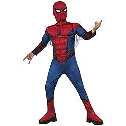 Spiderman - Disfraz infantil en caja con músculos y mascara, S (Rubie's Spain 155032-S)