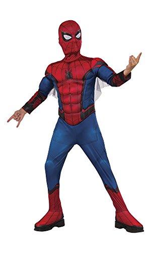 Muskel Spiderman Kostüm - Spiderman Kostüm mit Muskeln und Mascara in Box (Rubie 's Spain) S