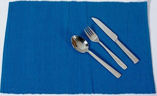 Baumwolle Platzmatten für 4 oder 6 Personen in verschiedenen Farben). XXL Tischset ca. 48x33cm groß und waschbar. Moderne Designer Baumwolle Tischmatten bzw. Tischunterlagen als tolles Platzset für Ihr Esszimmer