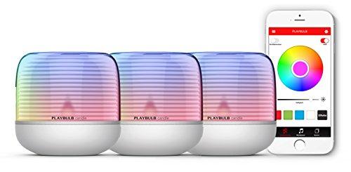 MiPow Playbulb Candle 2 - LED-Teelicht mit App-Steuerung (Bluetooth), kabellos durch eingebauten Akku, über 16 Millionen Farben und Effekte (3er Set) (Grüne Lichter Tee Led)