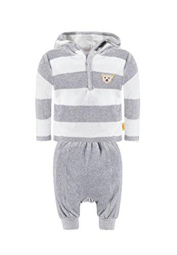 Steiff Collection Jungen Bekleidungsset 2tlg. Sweatshirt 1/1 Arm + Hose, Gr. 68, Grau (Softgrey melange 8200)