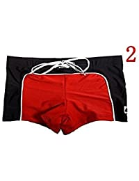 Fitness sports store Men's Red Designer Swimming Shorts Branded Swimwear Swim Short