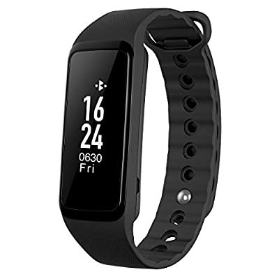 Amir Smart Bracelet, IPX7 Waterproof Touch Screen Smart Bands for Easter, Activity Tracker with Heart Rate Monitor for Android and iOS Smart Phones Such as iPhone 7/ 7 Plus/ 6s/ 6/ 6 Plus/ 5/ 5S, Samsung S7, etc by Amir
