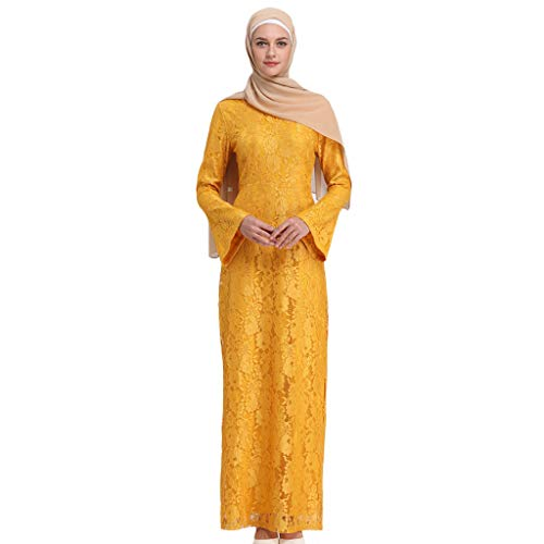 Muslimische Kleider aus Spitzen Stickerei Langes Schlank Maxikleid Muslim Robe Kleider Islamische Kleidung Abaya Dubai Hochzeit Kostüm Elegante Muslimischen Kaftan Kleid