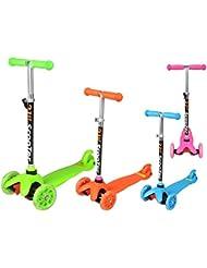 Kinderroller Cityroller Dreirad Roller 3-Rad Tretroller Kinder Farbauswahl #1107