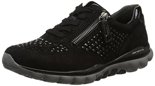Gabor Shoes Damen Rollingsoft Derbys, 87 schwarz (Strass), 38 EU