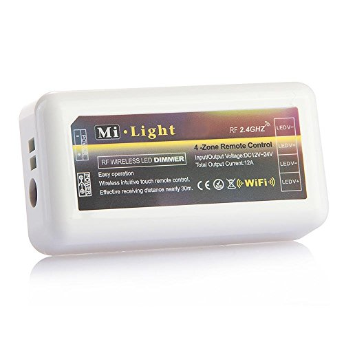 TOOGOO(R) Wireless WiFi Steuermodul LED-Controller Wlan 2.4G fuer Einfarbige LED Streifen