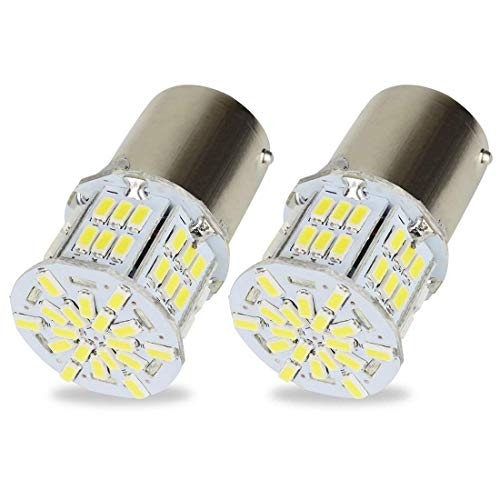 Safego 2 x 1156 BA15S Bombillas LED 54 SMD 3014 Luz de Estacionamiento Luz Exterior Coches Motos 12V Blanco 6000K