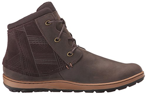 Merrell Womens Ashland Vee Ankle Black Boot Black Seal Brown