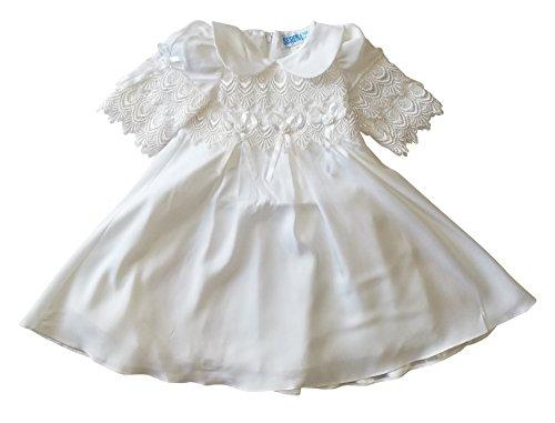 Taufkleid mit Mantel Jacke Wintermantel Taufkleider für Mädchen Baby Babies Kleinkind für Taufe Hochzeit Feste, Größe 68 74 L04