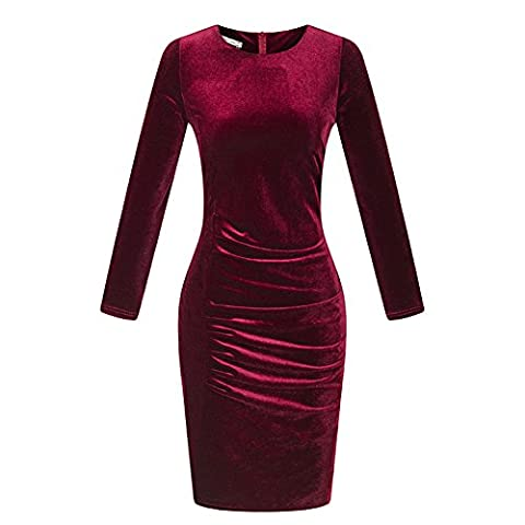CrazySell - Robe - Trapèze - Manches Longues - Femme - multicolore - Taille Unique