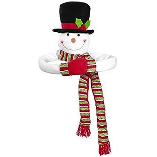 TOYMYTOY Topper del árbol de Navidad Muñeco de Nieve Hugger Muñeco de Nieve de Navidad Parte Superior del árbol Hugger Vacaciones de Invierno Decoración para el hogar