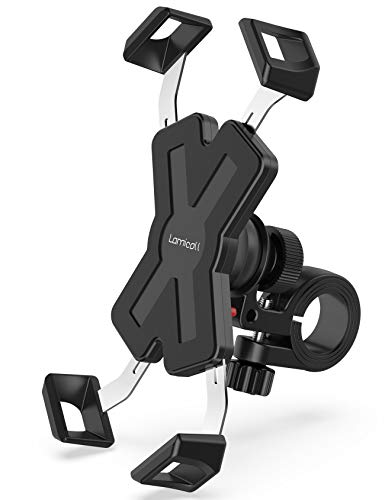 Lamicall Handyhalterung Fahrrad, Handyhalter Motorrad : Edelstahl Universal 360 Grad Drehung Outdoor Fahrrad Halter für Phone 11 Pro, Xs Max, XR, X, 8, 7, 6S, Samsung S10 S9 S8 S7, andere Smartphone