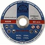 Ultra dünne Winkelschleifer von super Qualität, 125 x 2,5 mm Kreissäge - Edelstahl-Sägeblätter, aus Edelstahl, Schlitzscheiben, 10 Stück