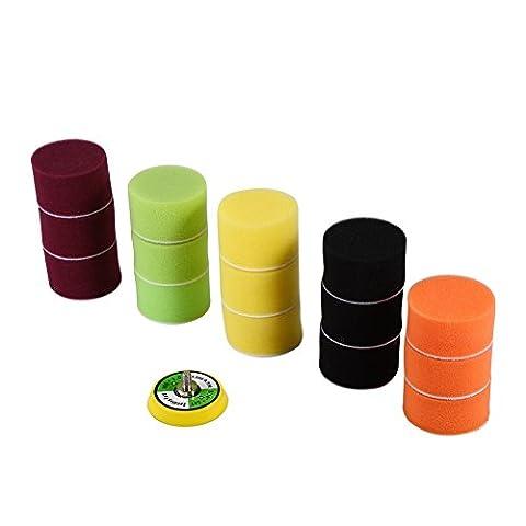 2 Inch Sponge Foam Buffing Polishing Pads Kit Set For Car Sanding Polishing Buffing , 16pcs