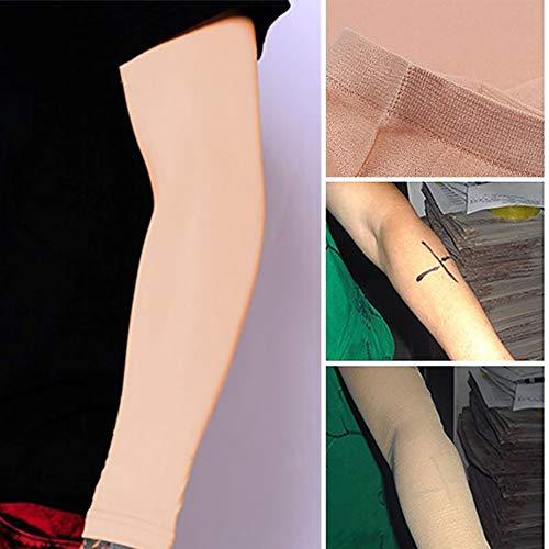gohigher 1 Paar Tattoo Cover Up Lange Mode Praktische Ärmel Concealer Outdoor UV-Schutz Sport Gym Unisex Arm-Ärmel (Cover-up-tattoo-ärmel)