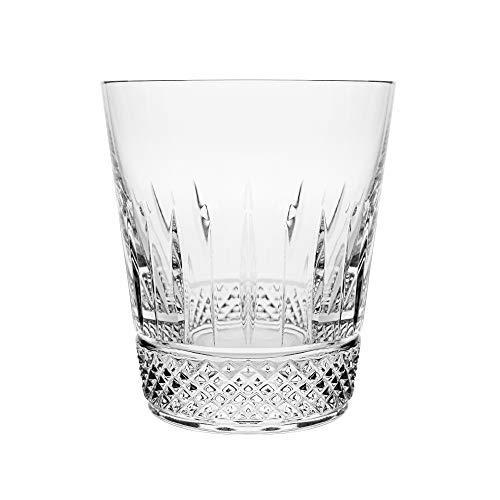 Double Old Fashioned Gläser (Barski - Set von 6 - mundgeblasen - handgeschliffene - Kristallgläser - DOF - Double Old Fashioned - Whiskey Tumblers - jedes Glas ist 400 ml - Becher ist einzigartig gestaltet - Made in Europe)