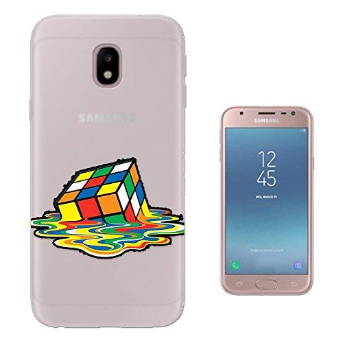 Preisvergleich Produktbild c01571 - Melting Rubik cube Design Samsung Galaxy J3 2017 (EU Version) Fashion Trend Silikon Hülle Schutzhülle Schutzcase Gel Silicone Hülle