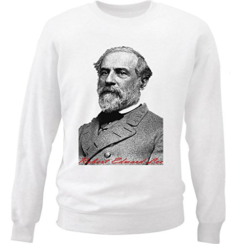 Teesquare1st Men's LEE ROBERT EDWARD White Sweatshirt