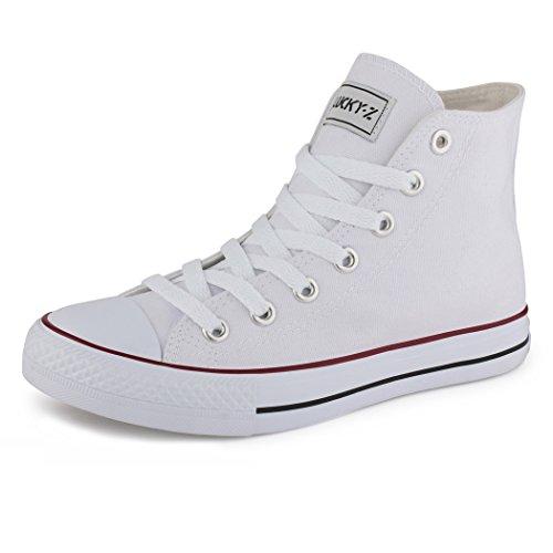 best-boots Damen High-Top Sneaker Schnürer weiß 1187 Größe 36