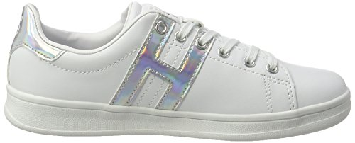 HIS 16mcb002, Sneakers basses femme Weiß (white/silver)