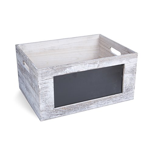 Wooden Crates with Blackboard Re...