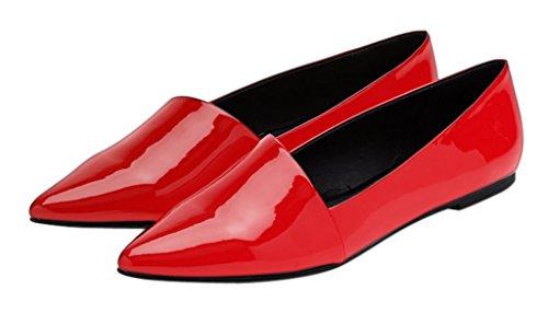 Guoar - Scarpe chiuse Donna Rosso
