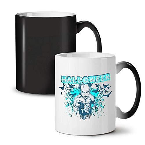 Wellcoda Halloween Grusel Kult Farbwechselbecher, Unheimlich Tasse - Großer, Easy-Grip-Griff, Wärmeaktiviert, Ideal für Kaffee- und Teetrinker