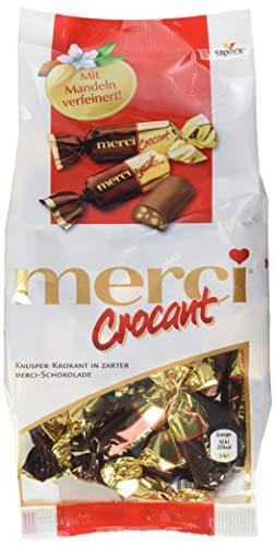 merci Crocant – Feine merci Schokolade mit knusprigem Krokant - ein leckeres, kleines Dankeschön für jedermann – (6 x 200g Beutel)