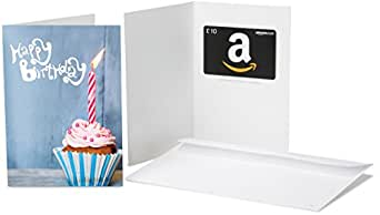Amazon.co.uk Gift Card - In a Greeting Card - £10 (Birthday Blue Cupcake)