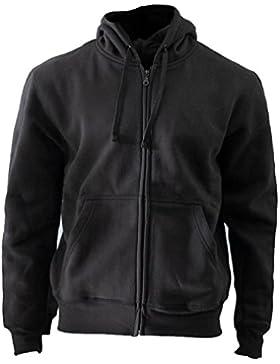 ROCK-IT Herren Zipper Hoodie Kapuzen Sweater Jacke Workerhoodie Pullover in Größen XS-5XL - Farben Schwarz Grün...
