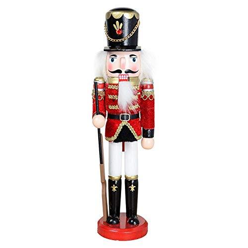 Winnerruby 1 STÜCKE Weihnachten Nussknacker Soldat Hölzerne Dekorative Weihnachtsverzierung, 30 cm