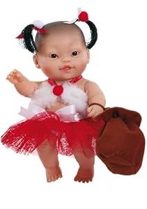 Paola Reina - Dana, muñeca de Vinilo, Vestido en Papá Noel 22 cm (01130)