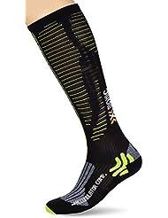 X-Socks calcetines para deporte de competición para adultos en función de la temperatura, primavera/verano, unisex, color Varios colores - Black/Acid Green, tamaño 43/46 L
