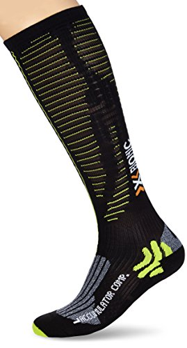 X-Socks Erwachsene Funktionssocken Accumulator Competition, Black/Acid Green, 43/46 S