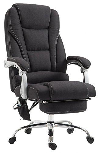 Chefsessel Ocean Chefsessel l Bürostuhl mit Massagefunktion l Stoffbezug l Schwarz