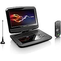 """Lenco DVP-9413 Portable DVD player Convertible 9"""" Black portable DVD/Blu-Ray player - Portable DVD/Blu-Ray Players (Portable DVD player, Convertible, Black, CD audio, CD video, DVD-Audio, DVD-Video, CD,DVD, DVB-T2) - Trova i prezzi più bassi su tvhomecinemaprezzi.eu"""