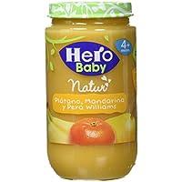 Hero Baby Natur Tarrito de Platano, Mandarina y Pera Williams. a Partir de 4 Meses. sin Gluten, sin Aditivos - 235 g