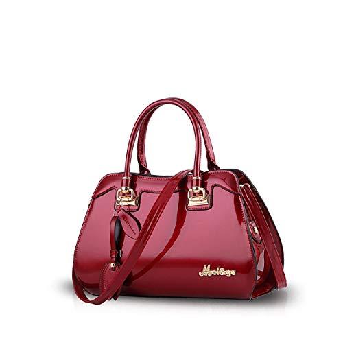 NICOLE&DORIS Mode Damen Handtaschen Umhängetasche Damenhandtaschen Henkeltaschen Schultertaschen Crossbody PU Rotwein